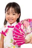 Ασιάτης λίγος κινεζικός ασιατικός ανεμιστήρας εκμετάλλευσης κοριτσιών Στοκ Φωτογραφία