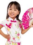 Ασιάτης λίγος κινεζικός ασιατικός ανεμιστήρας εκμετάλλευσης κοριτσιών Στοκ Εικόνα