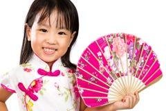 Ασιάτης λίγος κινεζικός ασιατικός ανεμιστήρας εκμετάλλευσης κοριτσιών Στοκ εικόνες με δικαίωμα ελεύθερης χρήσης