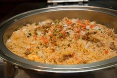 Ασιάτης του εύγευστου ασιατικού τηγανισμένου ρυζιού Στοκ εικόνα με δικαίωμα ελεύθερης χρήσης