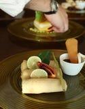 Ασιάτης crepes ο καρπός τροφίμων Στοκ εικόνες με δικαίωμα ελεύθερης χρήσης