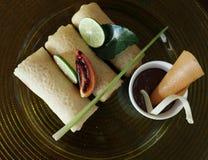 Ασιάτης crepes ο καρπός τροφίμων Στοκ φωτογραφία με δικαίωμα ελεύθερης χρήσης