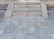 Ασιατικά αρχαία πάτωμα και σκαλοπάτια  λήφθείτε σε Dandong, επαρχία Liaoning, βόρειο-ανατολικά της Κίνας στοκ εικόνες