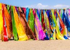 Ασιατικά ζωηρόχρωμα μαντίλι στοκ εικόνα με δικαίωμα ελεύθερης χρήσης