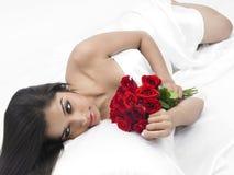 ασιατικά θηλυκά λουλούδια σπορείων Στοκ εικόνα με δικαίωμα ελεύθερης χρήσης