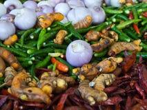 ασιατικά καρυκεύματα χορταριών στοκ εικόνες