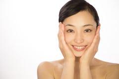 Ασιατικά καλλυντικά ομορφιάς γυναικών Στοκ Εικόνα