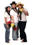 ασιατικά κορίτσια flo που κρατούν αρκετά στοκ εικόνες