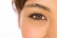 Ασιατικά μάτια γυναικών κοριτσιών του Λατίνα Στοκ εικόνα με δικαίωμα ελεύθερης χρήσης