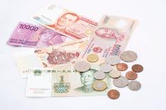 ασιατικά νομίσματα Στοκ φωτογραφία με δικαίωμα ελεύθερης χρήσης