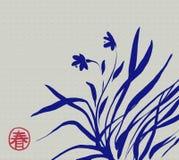 Ασιατικά λουλούδια άνοιξη Στοκ Εικόνα