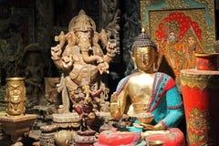 Ασιατικά παλαιά αγάλματα Στοκ Εικόνες