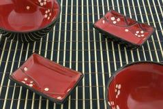 ασιατικά πιάτα Στοκ Εικόνα