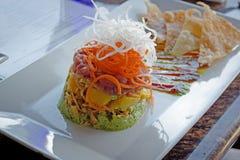 Ασιατικά τρόφιμα με τα λαχανικά και τα φρούτα Στοκ φωτογραφία με δικαίωμα ελεύθερης χρήσης