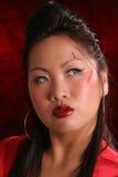 ασιατικά φανείτε κόκκινος σωστός αποπνικτικός στοκ φωτογραφία με δικαίωμα ελεύθερης χρήσης