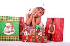 ασιατικά χαριτωμένα δώρα Χρ στοκ εικόνα με δικαίωμα ελεύθερης χρήσης