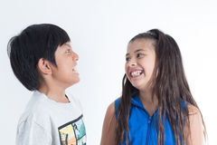 Ασιατικά χαριτωμένα παιδιά Στοκ Εικόνες