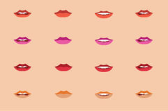 Ασιατικά χείλια γυναικών Στοκ φωτογραφία με δικαίωμα ελεύθερης χρήσης