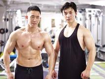 Ασιατικά bodybuilders στη γυμναστική στοκ φωτογραφία με δικαίωμα ελεύθερης χρήσης