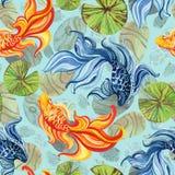 Ασιατικά goldfishes Watercolor Στοκ εικόνες με δικαίωμα ελεύθερης χρήσης