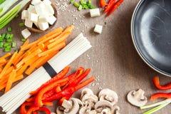 Ασιατικά vegan συστατικά τροφίμων Στοκ Εικόνες