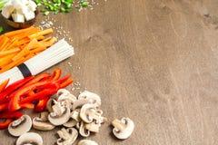 Ασιατικά vegan συστατικά τροφίμων Στοκ Εικόνα