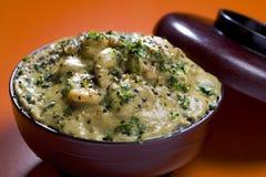 Ασιατικές γαρίδες ύφους στη σάλτσα και το κάρρυ γάλακτος καρύδων στοκ φωτογραφία με δικαίωμα ελεύθερης χρήσης