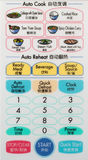 Ασιατικές επιλογές φούρνων μικροκυμάτων στη λευκιά επιτροπή Στοκ Εικόνες