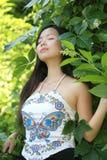 ασιατικές θηλυκές νεολ στοκ εικόνα με δικαίωμα ελεύθερης χρήσης