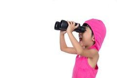 Ασιατικές κινεζικές διόπτρες εκμετάλλευσης μικρών κοριτσιών Στοκ Εικόνες