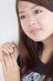 ασιατικές πρότυπες όμορφες νεολαίες Στοκ Εικόνα