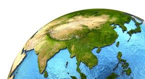 Ασιατική ήπειρος στη γη Στοκ φωτογραφία με δικαίωμα ελεύθερης χρήσης