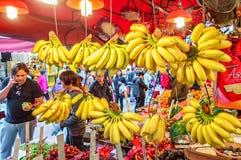Ασιατική αγορά γεωργικών προϊόντων οδών στο Χονγκ Κονγκ Στοκ φωτογραφία με δικαίωμα ελεύθερης χρήσης