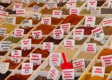 Ασιατική αγορά καρυκευμάτων στοκ φωτογραφίες με δικαίωμα ελεύθερης χρήσης