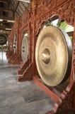 Ασιατική ασιατική δυνατή έννοια οργάνων μουσικής Gong Στοκ Εικόνες