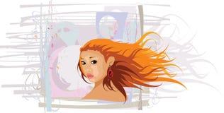 ασιατική γυναίκα απεικόν&i διανυσματική απεικόνιση