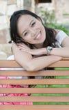 ασιατική γυναίκα δοντιών &ch στοκ φωτογραφία