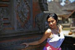 ασιατική γυναίκα ναών Στοκ Φωτογραφία