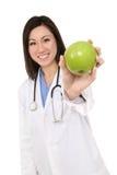 ασιατική γυναίκα νοσοκόμων μήλων Στοκ Εικόνα