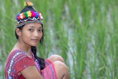 Ασιατική γυναίκα στο παραδοσιακό κοστούμι για τη Karen στοκ φωτογραφίες με δικαίωμα ελεύθερης χρήσης