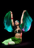 ασιατική γυναίκα χορευ&ta Στοκ Εικόνα