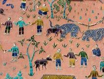ασιατική διαβίωση τέχνης Στοκ Εικόνες