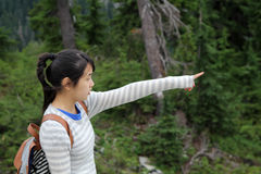 Ασιατική επισήμανση κοριτσιών Στοκ φωτογραφία με δικαίωμα ελεύθερης χρήσης