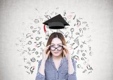 Ασιατική επιχειρηματίας, γυαλιά, εκπαίδευση στοκ φωτογραφία