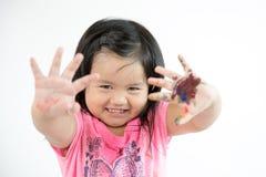 Ασιατική ζωγραφική παιδιών Στοκ Εικόνες