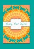 Ασιατική κάρτα προτύπων Mandala Στοκ εικόνα με δικαίωμα ελεύθερης χρήσης