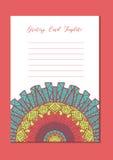 Ασιατική κάρτα προτύπων Mandala Στοκ φωτογραφίες με δικαίωμα ελεύθερης χρήσης