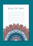 Ασιατική κάρτα προτύπων Mandala Στοκ εικόνες με δικαίωμα ελεύθερης χρήσης