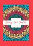Ασιατική κάρτα προτύπων Mandala Στοκ Φωτογραφία