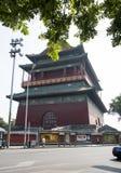 Ασιατική Κίνα, Πεκίνο, αρχαία αρχιτεκτονική, ο πύργος τυμπάνων Στοκ φωτογραφία με δικαίωμα ελεύθερης χρήσης